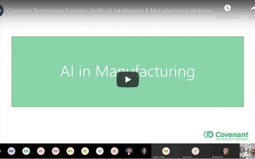 Artificial Intelligence & Manufacturing Webinar