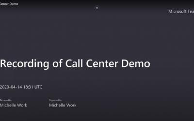 D365 Call Center Demo